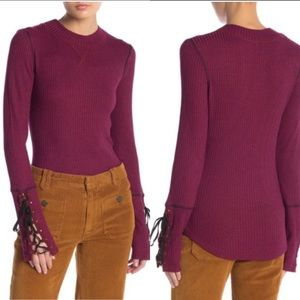 Free People Mountaineer Cuff Thermal Top